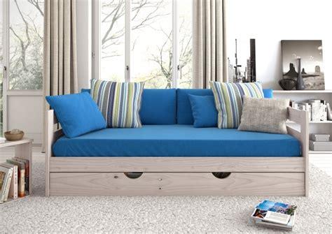 cama sof 225 con lamas y caj 243 n de almacenaje muebleslufe - Sofa Cama Con Cajones