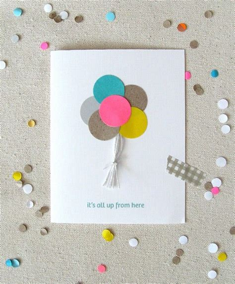 idea of birthday card diy balloon card diy birthday cards