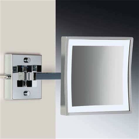 wall mounted magnifying mirrors for bathrooms square wall mounted led brass 3x magnifying mirror