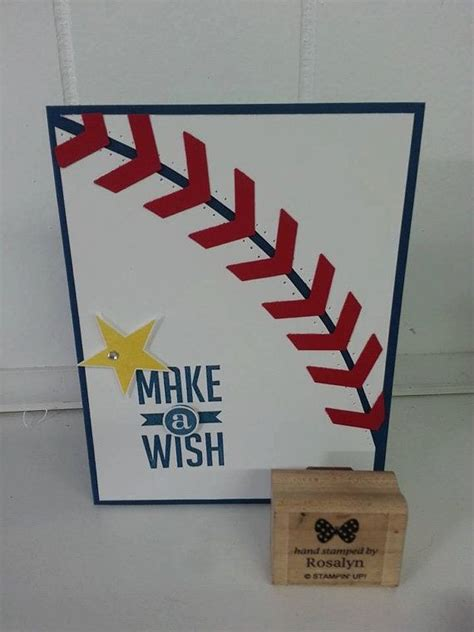 make baseball cards make a wish baseball birthday card for boys or