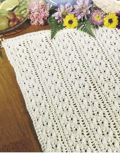 Free Table Treatment Knitting Patterns Summer Vines