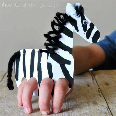 Galloping Finger Puppet Zebra Craft I Crafty Things