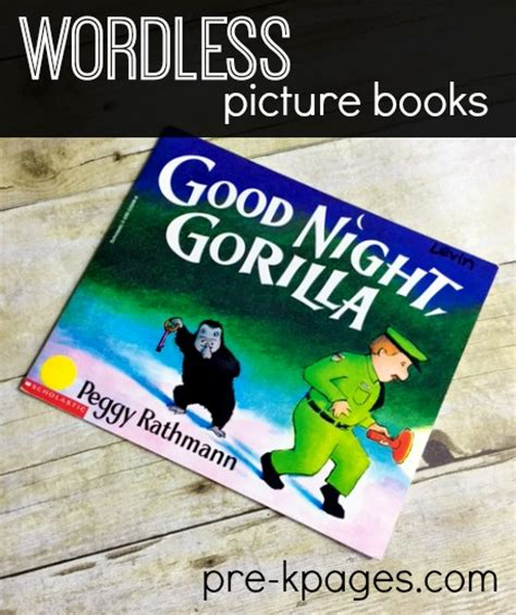 wordless picture books printable read aloud pre k pages