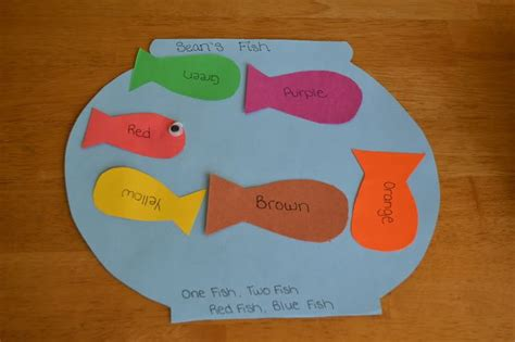 february crafts mamas like me one fish two fish fish blue fish