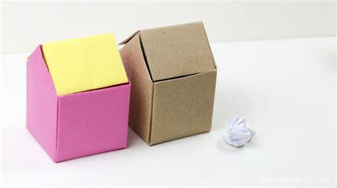 origami garbage bin origami rubbish bin origami and diy and crafts
