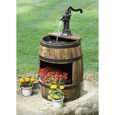 Whiskey Barrel Planter Home Depot by Whiskey Barrel Fountain With Planter 214687 Decorative