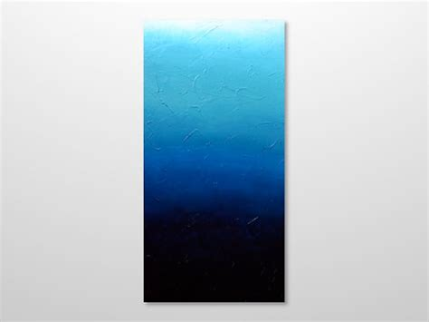 ombre acrylic paint on canvas original blue ombre abstract painting textured canvas