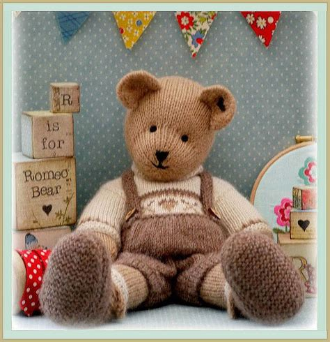 free patterns for knitted teddy bears romeo teddy knitting pattern pdf email