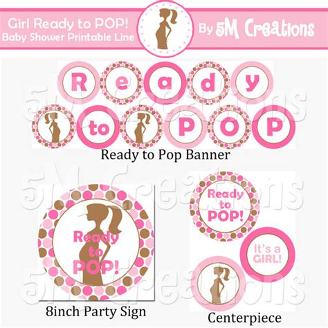ready to pop rubber st about to pop baby shower printables 28 images