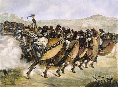 zulu painting zulu warfare 1879 photograph by granger