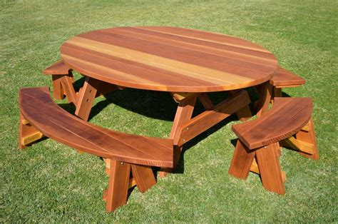 custom picnic tables oval picnic table custom oval shaped wood picnic table