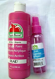 acrylic paint do you need water spray ink did you you can make your own spray ink