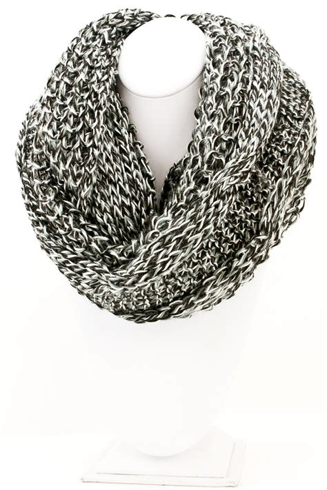 knitted white scarf knit infinity scarf scarves