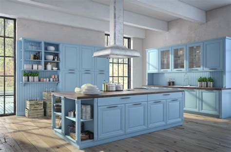 blue color kitchen cabinets 27 blue kitchen ideas pictures of decor paint cabinet
