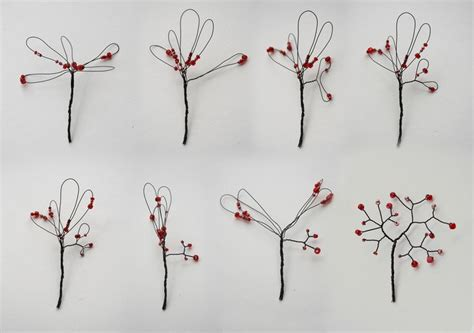 beaded wire tree tutorial beaded wire trees crafty wire trees