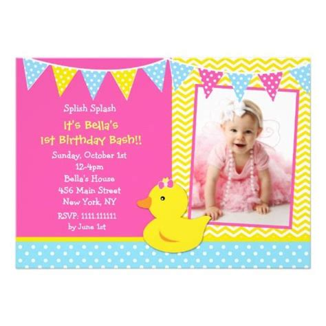 rubber st invitation free printable rubber ducky 1st birthday invitations