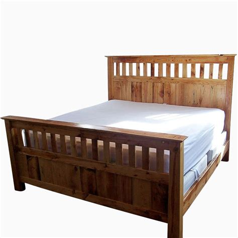mission style bed frames buy a handmade vintage reclaimed wood mission style bed