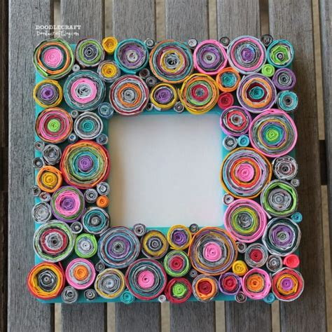 newspaper craft projects make rolled paper picture frames 187 dollar store crafts