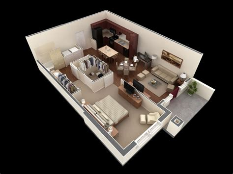 1 bedroom design 50 one 1 bedroom apartment house plans architecture