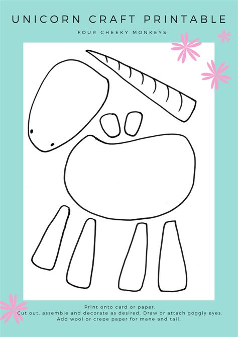 printable crafts for unicorn craft activity flower crown and free printables