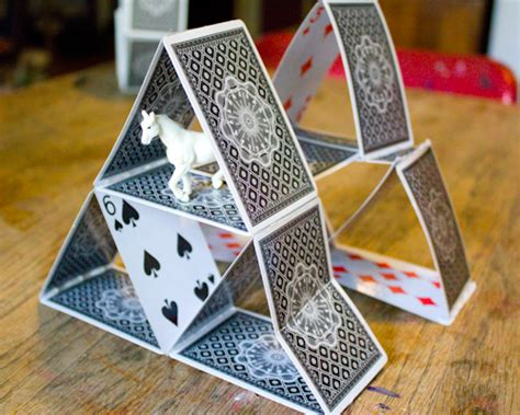how to make a house out of cards 5 ways to upcycle cards crafting a green world