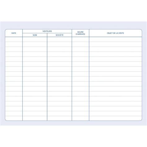 registre des visiteurs cahier de suivi des visites elve 43001 az fournitures