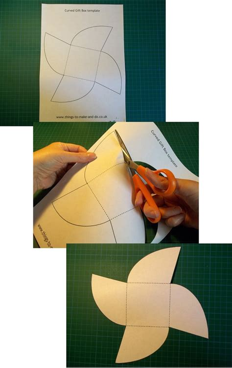 how to make a box from a card things to make and do make and decorate a curved gift box