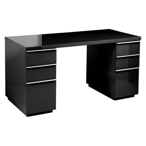 black office desks office desk black dwell
