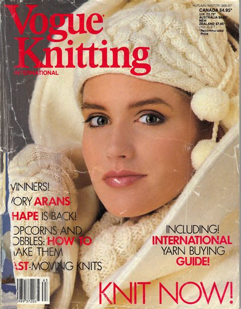 vogue knitting magazine vogue knitting magazine autumn winter 1986 87 by