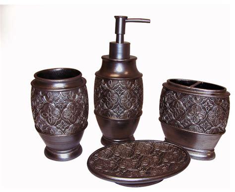 bathroom bronze accessories kasbar bronze bath accessory 4 set contemporary