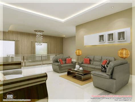home interior design for living room awesome 3d interior renderings kerala home design and