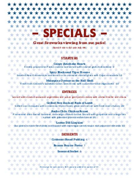 july specials menu templates musthavemenus 5 found