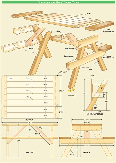 woodworking plans free pdf woodwork small picnic table plans pdf plans