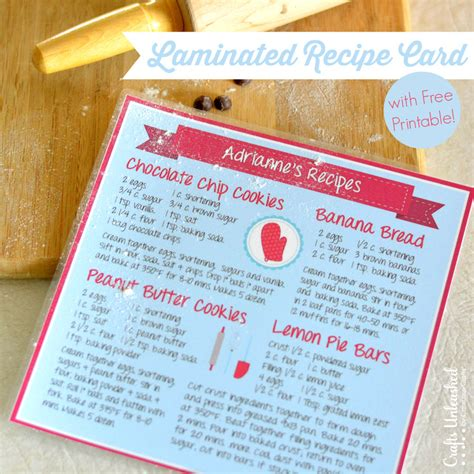 make a recipe card recipe card diy with free printable crafts unleashed