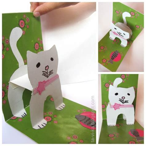 how to make a pop up cat card 3883 best and crafts for images on