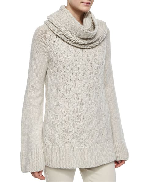 cable knit tunic sweater loro piana chunky cable knit tunic sweater in