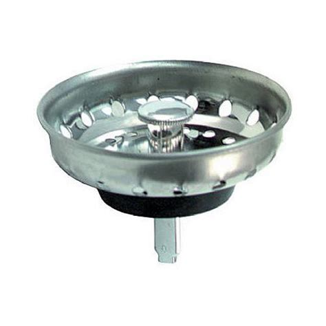 kitchen sink basket replacement replacement fixed post sink strainer basket stainless