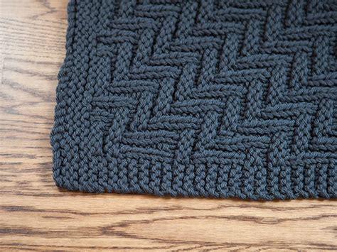 zig zag knitting pattern zig zag mat knitting patterns and crochet patterns from