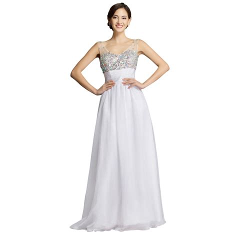cheap beaded prom dresses cheap retail price floor length empire white chiffon