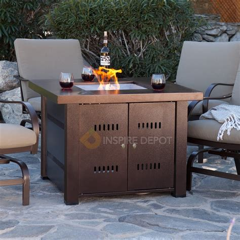 patio fireplace table outdoor pit table patio deck backyard heater