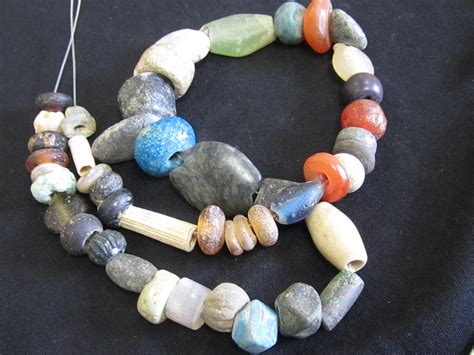 bead world palatine middle east glass faience mix from syria