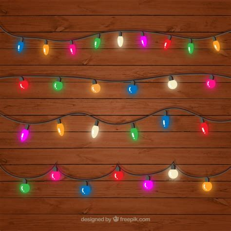 colored string lights decorative colored string lights set vector free