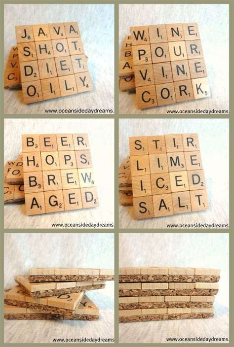make your own scrabble top 25 best scrabble coasters ideas on