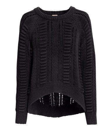 h m knit pattern knit black sweater h m bumping hanger