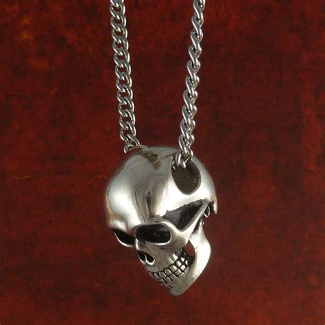 skull for jewelry human skull necklace antique silver skull jewelry on 24