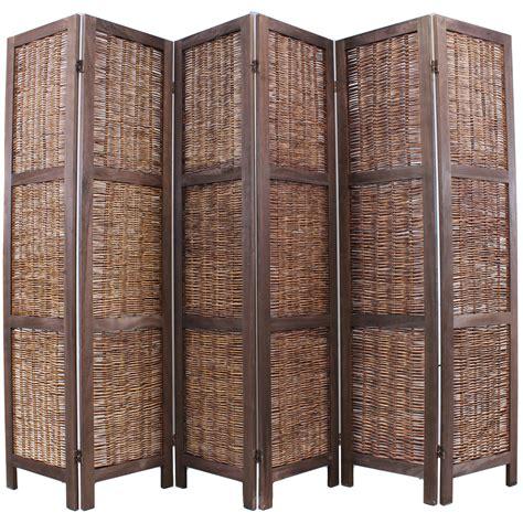 wicker room divider wooden framed wicker room divider