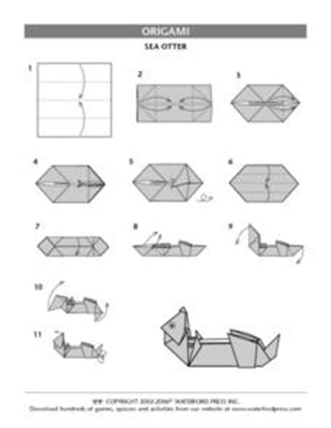 otter origami sea otter origami directions 3rd 4th grade lesson plan