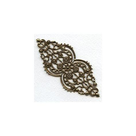 filigree jewelry supplies oval filigree oxidized brass 4 inches 1