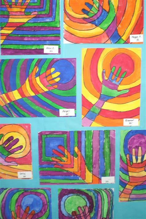 third grade craft projects with mrs hurley warm and cool third grade