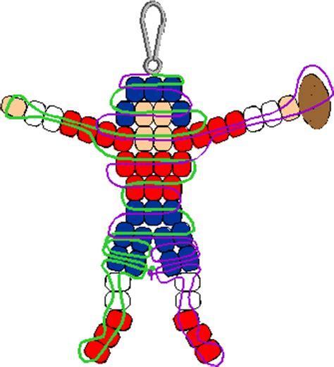 pony bead pattern football player pony bead pattern